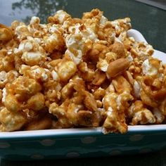 My Amish Friend's Caramel Corn Recipe [okay... caramel seized a bit and didn't distribute well.  good flavor, though, with some added salt]