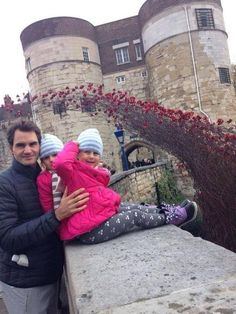 With twins at Tower of London , Nov.2014