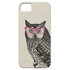 Nerd Bird Vintage Graphic Owl iPhone Case iPhone 5 Covers