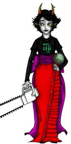 Fan art of Kanaya Maryam (one of the trolls/main characters) from the popular webcomic Homestuck.