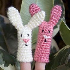 Crochet Bunny Rabbit Finger Puppet By Sarah Hamilton - Free Crochet Pattern - (ehow)