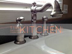5 tips that make cleaning the kitchen a cinch...simple, practical ideas that can actually be achieved!