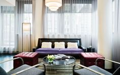 Lounge in style in the posh living area of the Smyth Suite at Smyth TriBeCa in New York City