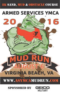 Flyer for Armed Services YMCA Mud Run in 2016.