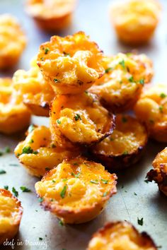 When the game is on, all food needs to be forkless, like these Mac and Cheese Bites.