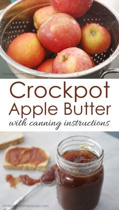 Apple Butter Crockpot Apple Butter with Canning Instructions. This is seriously like magic! So easy!Crockpot Apple Butter with Canning Instructions. This is seriously like magic! So easy! Jelly Recipes, Jam Recipes, Canning Recipes, Apple Recipes, Easy Canning, Recipies, Healthy Fall Recipes, Vegan Recipes, Home Canning