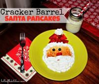 Cracker Barrel Santa Pancakes on MyRecipeMagic.com.  The kids will go crazy over these cute santa pancakes!