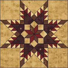 Image Detail for - . Unique Creations: Freebie Friday Feathered Star Quilt Block Pattern