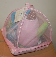 Pottery Barn Kids PUFFY TEA SET KETTLE + CUPS FABRIC CLOTH TOY
