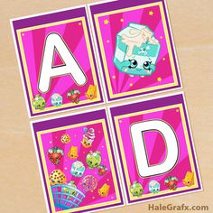 Click here to download a FREE Printable Shopkins Alphabet Banner Pack!