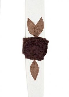 Vintage Rose Wraps Headbands: Cream Band Brown Lace
