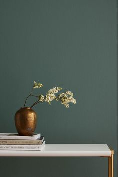"Current Mood by Clare- a mysterious, moody green paint color that's intense and alluring all at once. ""THE DESIGN TRENDS THAT WILL BE IN AND OUT IN Elle Decor. Easy paint colors for your living Green Paint Colors, Bedroom Paint Colors, Interior Paint Colors, Room Colors, Paint Colors For Office, Wall Painting Colors, Colors For Bedrooms, Paint My Room, Green Wall Color"