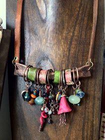 Boho Jewelry..so simply made leather n metal wow