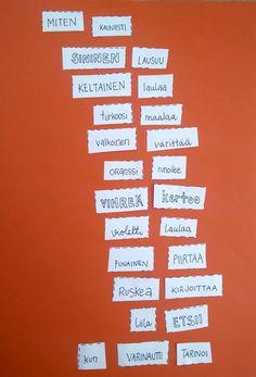 Sattumaruno, runotehtävä, sillä jokainen meistä voi olla runoilija!