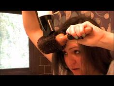 Hair Blow Out Tutorial = Awesome! I've watched my stylist for years blow out my hair, but have never been able to do it before watching this video.
