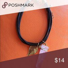 Selling this Leather wrap with pink quartz stone on Poshmark! My username is: funkonrose. #shopmycloset #poshmark #fashion #shopping #style #forsale #Jewelry