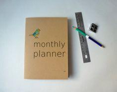 A5 monthly planner BIRD