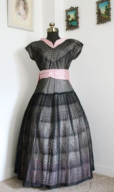Vintage 1930s Lavish Great Gatsby Black and by VarietyVintagebyALD