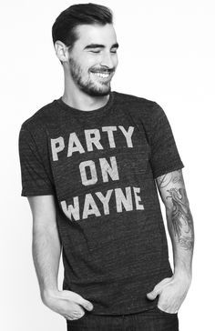 Funny party on wayne tee!