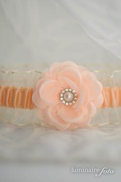 Peach Garter, Vintage Wedding