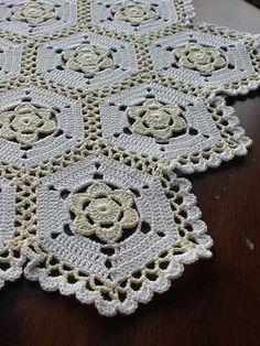 Crochet Blocks, Crochet Squares, Crochet Granny, Filet Crochet, Crochet Motif, Crochet Doilies, Easy Crochet, Crochet Flowers, Crochet Lace