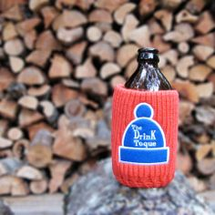 The Drink Toque - The Drink Toque Classic, vintage-style, knit koozie. Vintage Fashion, Vintage Style, Drink Sleeves, Flask, Barware, The Originals, Drinks, Collection, Classic