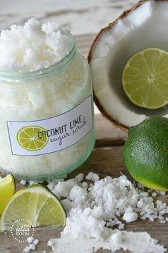 Coconut lime sugar scrub.