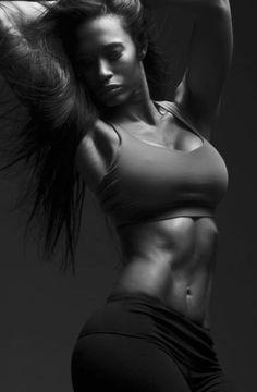 Pilar Sanders makes being fit look so damn sexy. Fit black women, fit black girls, black women fitness, black girl fit