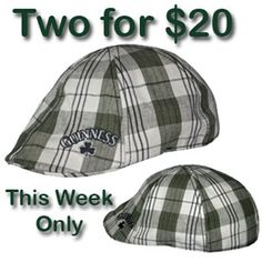 7c6cda46897 Guinness Golf Hats - 2 for  20. The unique elasticated band design ensures  one size