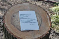 Boomgedichtenroute Emile van Loonpark #roosendaal, gedicht van Fons Walravens