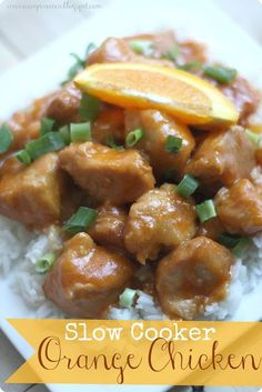 Slow Cooker Orange Chicken - can be made in the pressure cooker too!