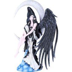 Enchanted Winged Fairy In Long Grey Dress Figurine 17cm
