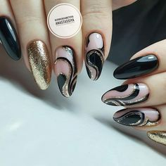 65 Winter Nail Designs for Christmas - . Manicure, Shellac Nails, Acrylic Nails, Winter Nail Designs, Christmas Nail Designs, Nail Art Designs, Black Nails, Pink Nails, Trendy Nails
