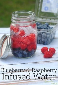 This Blueberry and Raspberry infused water is the perfect treat when you're wanting something sweet!