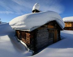 Beautiful Snow cabin Love Moments