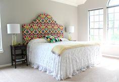 cabecero de cama hecho con tela - Hazlo tú mismo: 5 Ideas para montar un cabecero de cama único                                                                                                                                                                                 Más