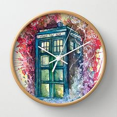 Brilliant #DoctorWho Wall Clock now available from Society6!