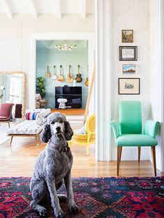 See more images from  little green notebook author jenny komenda shows off her southwestern home makeover on domino.com
