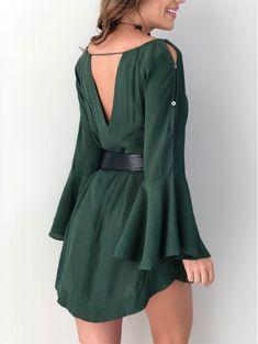e5a7a7328df 7 melhores imagens de vestido verde curto