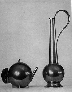 Bauhaus teapot and pitcher