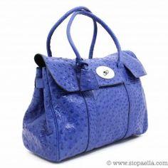 941b09e413cf Mulberry Steel Blue Ostrich Bayswater Siopaella Designer Exchange Dublin