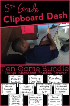 This math game REVOLUTIONIZED my independent practice!  10 Game Bundle. Common Core Aligned!