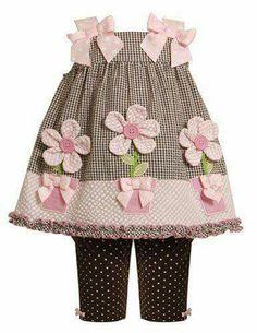 Bonnie Jean Brown, Flower Pot Applique Seersucker Dress and Legging Little Girls Party Dress Toddler Pants, Toddler Dress, Toddler Outfits, Baby Dress, Kids Outfits, Toddler Girl, Girls Party Dress, Little Dresses, Little Girl Dresses
