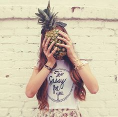 Pineapple face.