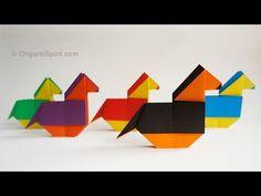 Origami Horse for a mobile :: Caballito de papel - YouTube de la calesita