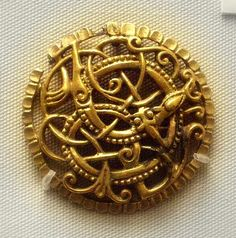 Anglo-Viking Brooch, 9th-11th Centuries, gilded bronze.  The British Museum, London.