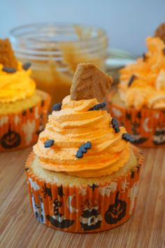 Ces savoureux cupcakes vont vous faire succomber ! Leur petite bouille toute ronde et orangée seront parfaits pour un brunch entre amis.