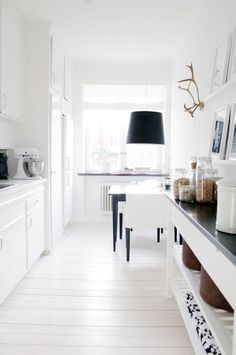 Kitchen and pantry organizing and decor.