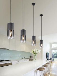 Pendant Lighting Over Dining Table, Kitchen Pendant Lighting, Pendant Lamp, Kitchen Lighting Design, Ceiling Light Design, Contemporary Kitchen Island Lighting, Contemporary Pendant Lights, Ceiling Lights, Wooden Chandelier