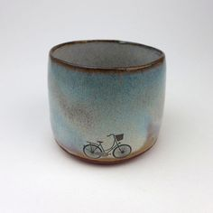 Bike with Basket Cup by JuliaSmithCeramics on Etsy, £14.00
